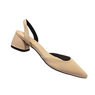 Giày nư , gia y cao gót slingback mũi nhọn kiểu dáng basic gót vuông vững chắc cao 5cm - SLBE thumbnail
