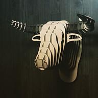 Đầu trâu gỗ 3d puzzle mô hình decor thumbnail