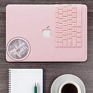 Combo ốp Macbook + phủ phím cao cấp - MÀU HỒNG thumbnail