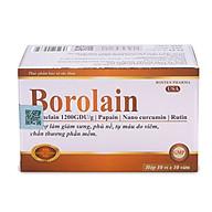 Viên uống Borolain Rostex giảm sưng đau phù nề, tụ máu do viêm phần mềm thumbnail