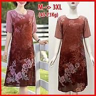 GOTI - Đầm Trung Nên Kiểu Đầm Suông Voan Chữ A In Hoa Cho Người Mập 45-78kg Dành Tặng Mẹ U50 U60 3226 thumbnail