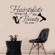Decal dán tường Hairstylists phong cách thumbnail