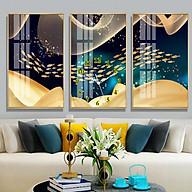 Tranh treo tường, tranh đồng hồ NT175 bộ 3 tấm ghép thumbnail