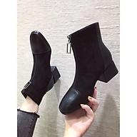 Boot nữ da lộn phối mũi da hot MBS246 - Mery Shoes thumbnail