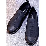 Giày lười da thiết kế trẻ trung dể phối đồ-612 Đen thumbnail
