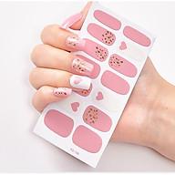 Miếng dán móng tay màu hồng (như hình) thumbnail