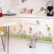 Decal dán tường trang trí phòng khách, quán cafe- Chân tường bồ công anh - DSK7040 thumbnail