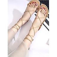 Giày sandals buộc dây kiểu chiến binh C62 nâu thumbnail