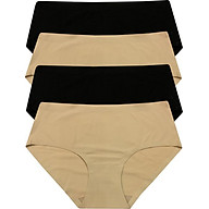 Combo 4 quần lót đúc su QCP22314, 2 Màu Da + 2 Màu Đen (Freesize) thumbnail