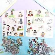 Combo 2 Bộ 60 Sticker Hình Dán Mini Bốn Con Mèo thumbnail