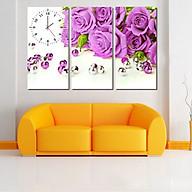 Tranh treo tường, tranh đồng hồ DH36A bộ 3 tấm ghép thumbnail