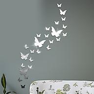 12 miếng decal dán tường trang trí 3D sáng tạo cao cấp (M4) hình bướm thumbnail