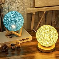 Đèn ngủ hình quả cầu ( Giao mẫu ngẫu nhiên ) - Tặng kèm bộ 6 con bướm dạ quang phát sáng thumbnail