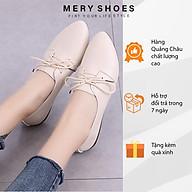 Giày Bệt Nữ, Giày Búp Bê Da Mũi Nhọn Thời Trang Mery Shoes Cực Xinh Có Dây Buộc - MBS182 thumbnail