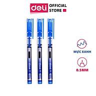 Bút gel Deli - 0.5mm - Nắp đậy - Mực Xanh - 1 chiếc - EQ300-BL thumbnail