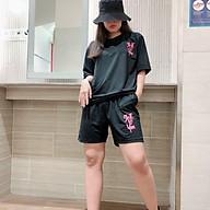 Đồ bộ mặc nhà nữ dạng đùi tay lỡ chất thun cotton co giản thoáng mát freesize in hoạ tiết thời trang teen thumbnail