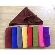 Bộ 10 khăn vệ sinh đa năng, lau tay, lau chùi có móc treo KT 30x30cm (Giao nhiều màu) thumbnail
