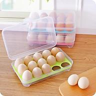 Hộp nhựa đựng trứng trong suốt 15 ô có nắp đậy - Tiện dụng dễ vệ sinh - thumbnail