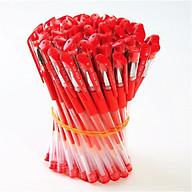 Combo gồm 50 bút bi nước nét đẹp đều mực 3 màu xanh đen đỏ thumbnail
