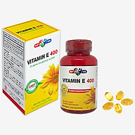 Thực phẩm chức năng Vitamin E 400 MDP - Chống lão hóa, tốt cho da, mắt, tóc chắc khỏe - Lọ 120 viên nang mềm thumbnail