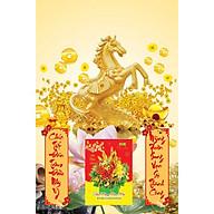 Lịch Gỗ Treo Tường Laminate 2021 Ngựa Vàng Phát Tài (40 Cm x 60 Cm) thumbnail