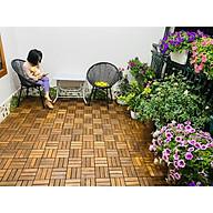 Sàn gỗ ban công (30x30x2.5cm, 1m2 11vỉ) - sàn gỗ vỉ nhựa ban công - sàn gỗ sân vườn - sàn gỗ ngoài trời thumbnail