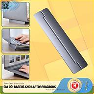 Giá đỡ gấp gọn hợp kim nhôm cho Laptop Macbook - Đế tản nhiệt dạng xếp, siêu mỏng Baseus Papery Notebook Holder (0.3cm slim, 8 Angle, Foldable, Portable Alloy Laptop Stand)-Hàng Nhập Khẩu thumbnail