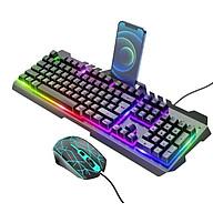 Combo bộ bàn phím kèm chuột gaming cao cấp có ô để điện thoại tiện ích OLAPLE - Hàng nhập khẩu thumbnail