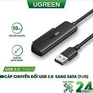 Cáp chuyển đổi hai loại USB 3.0 và USB type C sang Sata (7+15) cho ổ cứng ngoài SSD, HDD 2.5 inch, dài 50cm UGREEN CM321 - Hàng chính hãng thumbnail