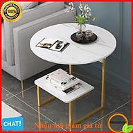 Bàn trà sofa, bàn trà phòng khách gỗ MDF hoa văn đá cẩm thạch phong cách hiện đại thumbnail