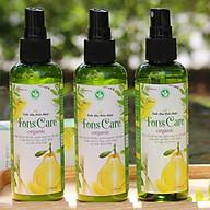Combo 3 lọ tinh dầu bưởi xịt tóc, chăm sóc và kích thích mọc tóc Fons Care (100ml lọ) thumbnail
