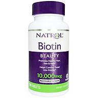 Thực phẩm chức năng bảo vệ sức khỏe Natrol Biotin Beauty 10000 mcg - Hộp 100 viên thumbnail