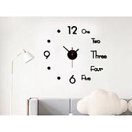 Đồng hồ dán tường kết hợp chữ và số đẹp mắt 3D thumbnail
