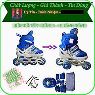 Giày trượt patin đủ size cho trẻ nhỏ và người lớn, đảm bảo hàng tốt chất lượng cao, điều chỉnh hàng bánh dễ làm quen và chuyên nghiệp. thumbnail