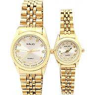 Cặp đồng hồ Nam Nữ Halei - HL356 Dây vàng thumbnail