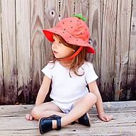 Mũ Bucket hình quả dâu, quả dứa dễ thương cho bé gái thumbnail