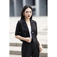 áo vest vest đen nữ dáng ngắn thumbnail