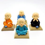 Bộ tượng 4 chú tiểu ngộ nghĩnh đáng yêu kèm đế - Vật phẩm trang trí (TUONG40.5DE) thumbnail