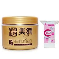 Combo 1 hộp kem dưỡng trắng da Platinum Label Nhật bản (175g) HỘP VÀNG + 1 Bông tẩy trang 50 miếng thumbnail