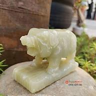 Tượng đá heo 12 con giáp phong thủy đá ngọc Pakistan 8cm đá Non Nước thumbnail