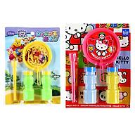 Combo Bộ thổi bong bóng xà phòng Pooh + Kitty nội địa Nhật Bản thumbnail