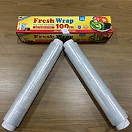 COMBO Màng bọc thực phẩm Hoàng Châu Plastic ( HCP ) 30CM X 100M và 2 lõi màng bọc thực phẩm 100m -Nhựa PE- Dùng được cho lò vi sóng -Không chất phụ gia tạo dẻo- Không chứa DEHA DEHP - An toàn cho sức khỏe- Thân thiện với môi trường thumbnail