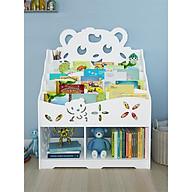 [SIÊU SALE] Kệ sách trẻ em thiết kế dễ thương, nhiều ngăn cho bé trai và bé gái TXT3205 thumbnail