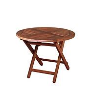 Bàn xếp tròn mini Sumbawa gỗ dầu thumbnail