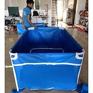 Bể bơi mini 1.3 x 1.3 x 0.6m cho bé bể bơi khung kim loại, bể bơi lắp ghép bạt dày 0.6mm thumbnail