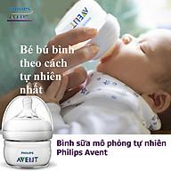 Bình sữa Philips Avent cho bé mô phỏng tự nhiên Bình tập uống đựng sữa cho trẻ sơ sinh chống sặc cổ rộng không có BPA Tặng móc khóa xinh xắn thương hiệu Bamboo Life thumbnail