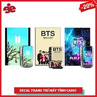 COMBO 3 ĐECAL TRANG TRÍ MÁY TÍNH CASIO VINACAL NHÓM NHẠC BTS thumbnail