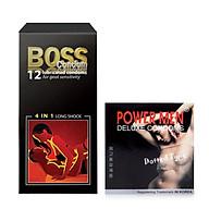 Combo Bao Cao Su Malaysia Boss 4in1 Siêu Gai Li Ti 12s + Bao cao su Powermen Dotted 3s thumbnail