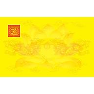 Giấy In Sớ Việt Lạc rồng chầu hoa sen có ấn RHS a3s DL60 nền vàng thumbnail