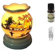 Combo tinh dầu sả chanh Eco oil 10ml cùng đèn xông tinh dầu MNB03 và 1 bóng đèn thumbnail